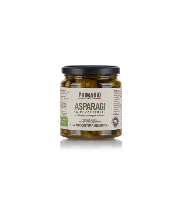 Asparagi a Pezzettoni in Olio Extra Vergine