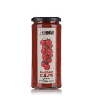 Cherry tomato with tomato sauce